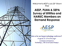 AESP, PLMA & SEPA Survey of Utilities and NARUC Members on Demand Response